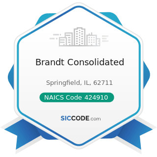 Brandt Consolidated - NAICS Code 424910 - Farm Supplies Merchant Wholesalers