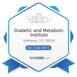 Diabetic and Metabolic Institute - SIC Code 8071 - Medical Laboratories