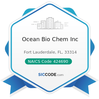 Ocean Bio Chem Inc - NAICS Code 424690 - Other Chemical and Allied Products Merchant Wholesalers