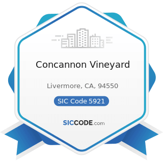 Concannon Vineyard - SIC Code 5921 - Liquor Stores