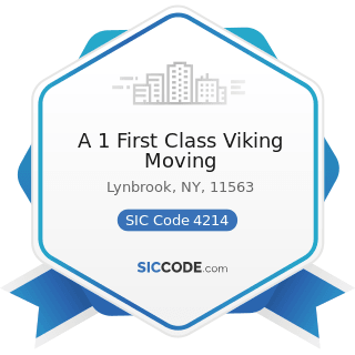 A 1 First Class Viking Moving - SIC Code 4214 - Local Trucking with Storage