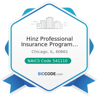 Hinz Professional Insurance Program Managers - NAICS Code 541110 - Offices of Lawyers