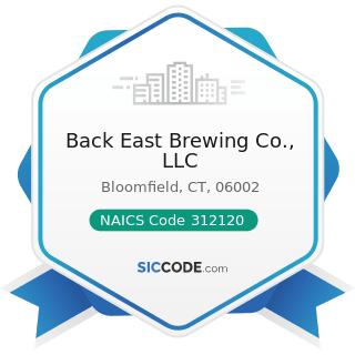 Back East Brewing Co., LLC - NAICS Code 312120 - Breweries