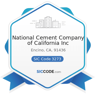 National Cement Company of California Inc - SIC Code 3273 - Ready-Mixed Concrete