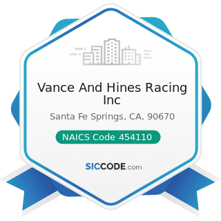 Vance And Hines Racing Inc - NAICS Code 454110 - Electronic Shopping and Mail-Order Houses