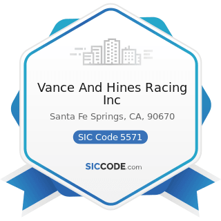 Vance And Hines Racing Inc - SIC Code 5571 - Motorcycle Dealers