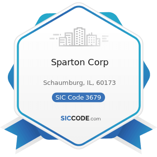 Sparton Corp - SIC Code 3679 - Electronic Components, Not Elsewhere Classified