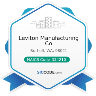 Leviton Manufacturing Co - NAICS Code 334210 - Telephone Apparatus Manufacturing