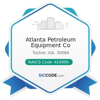 Atlanta Petroleum Equipment Co - NAICS Code 424990 - Other Miscellaneous Nondurable Goods...