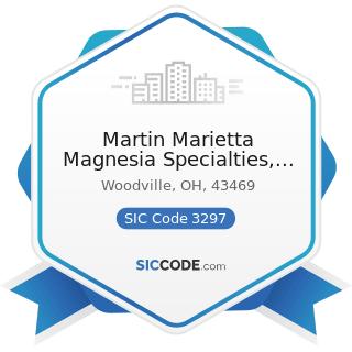 Martin Marietta Magnesia Specialties, LLC - SIC Code 3297 - Nonclay Refractories