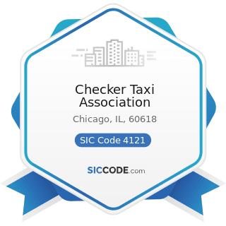 Checker Taxi Association - SIC Code 4121 - Taxicabs