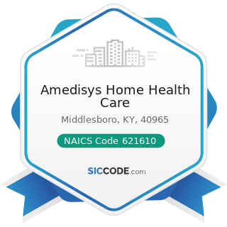 Amedisys Home Health Care - NAICS Code 621610 - Home Health Care Services