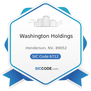 Washington Holdings - SIC Code 6712 - Offices of Bank Holding Companies