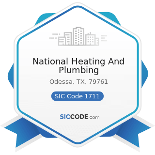National Heating And Plumbing - SIC Code 1711 - Plumbing, Heating and Air-Conditioning