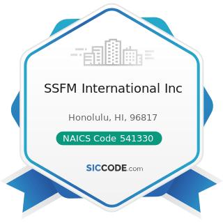 SSFM International Inc - NAICS Code 541330 - Engineering Services