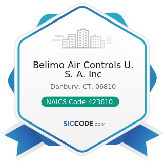 Belimo Air Controls U. S. A. Inc - NAICS Code 423610 - Electrical Apparatus and Equipment,...