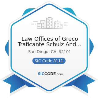 Law Offices of Greco Traficante Schulz And Brick APC - SIC Code 8111 - Legal Services