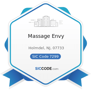 Massage Envy - SIC Code 7299 - Miscellaneous Personal Services, Not Elsewhere Classified