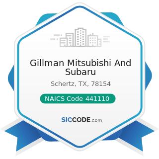 Gillman Mitsubishi And Subaru - NAICS Code 441110 - New Car Dealers