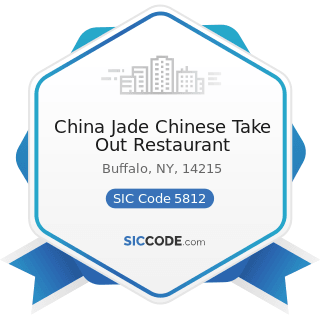 China Jade Chinese Take Out Restaurant - SIC Code 5812 - Eating Places