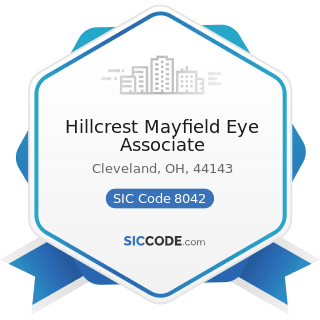 Hillcrest Mayfield Eye Associate - SIC Code 8042 - Offices and Clinics of Optometrists