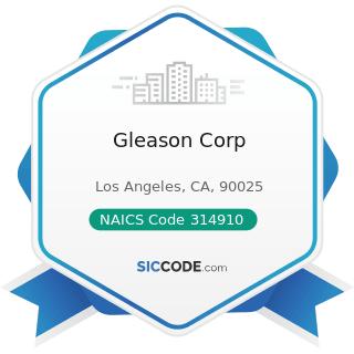 Gleason Corp - NAICS Code 314910 - Textile Bag and Canvas Mills