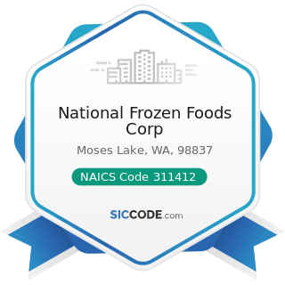 National Frozen Foods Corp - NAICS Code 311412 - Frozen Specialty Food Manufacturing