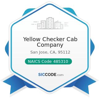 Yellow Checker Cab Company - NAICS Code 485310 - Taxi Service
