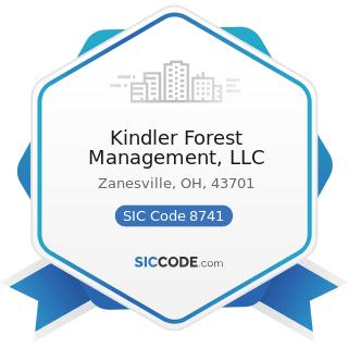 Kindler Forest Management, LLC - SIC Code 8741 - Management Services