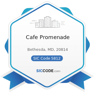 Cafe Promenade - SIC Code 5812 - Eating Places