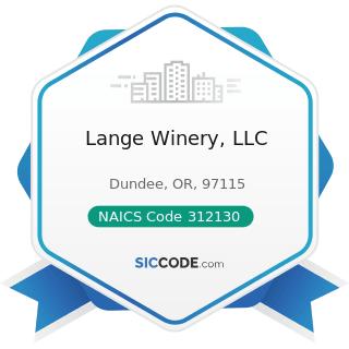 Lange Winery, LLC - NAICS Code 312130 - Wineries