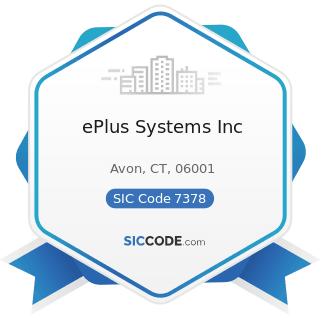 ePlus Systems Inc - SIC Code 7378 - Computer Maintenance and Repair
