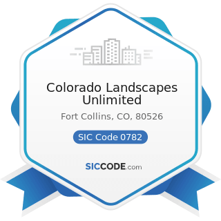 Colorado Landscapes Unlimited - SIC Code 0782 - Lawn and Garden Services