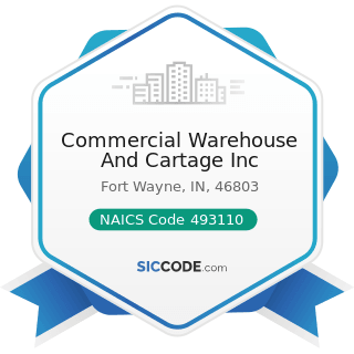 Commercial Warehouse And Cartage Inc - NAICS Code 493110 - General Warehousing and Storage