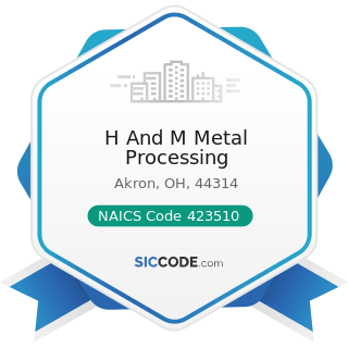 H And M Metal Processing - NAICS Code 423510 - Metal Service Centers and Other Metal Merchant...