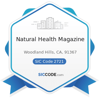 Natural Health Magazine - SIC Code 2721 - Periodicals: Publishing, or Publishing and Printing