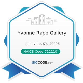Yvonne Rapp Gallery - NAICS Code 712110 - Museums