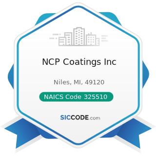 NCP Coatings Inc - NAICS Code 325510 - Paint and Coating Manufacturing