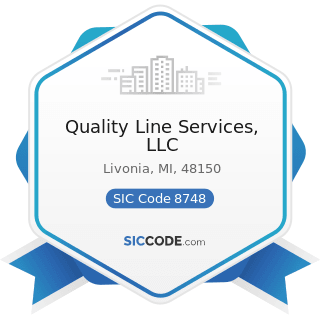 Quality Line Services, LLC - SIC Code 8748 - Business Consulting Services, Not Elsewhere...