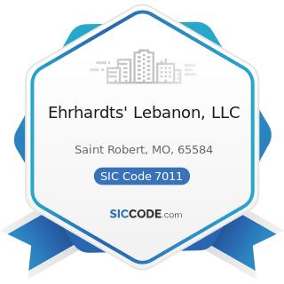 Ehrhardts' Lebanon, LLC - SIC Code 7011 - Hotels and Motels