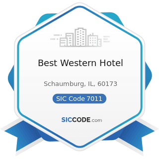 Best Western Hotel - SIC Code 7011 - Hotels and Motels