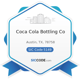 Coca Cola Bottling Co - SIC Code 5149 - Groceries and Related Products, Not Elsewhere Classified