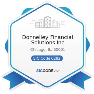 Donnelley Financial Solutions Inc - SIC Code 6282 - Investment Advice
