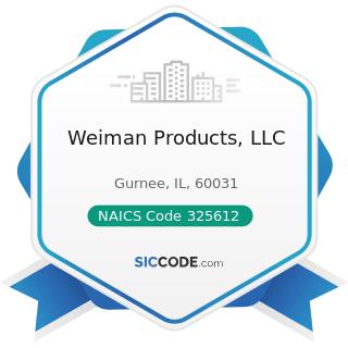 Weiman Products, LLC - NAICS Code 325612 - Polish and Other Sanitation Good Manufacturing