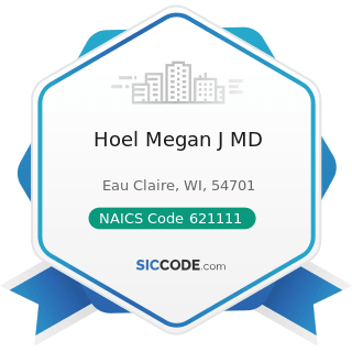 Hoel Megan J MD - NAICS Code 621111 - Offices of Physicians (except Mental Health Specialists)