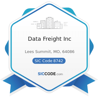 Data Freight Inc - SIC Code 8742 - Management Consulting Services