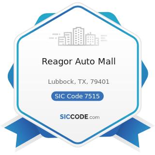 Reagor Auto Mall - SIC Code 7515 - Passenger Car Leasing
