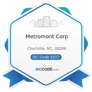 Metromont Corp - SIC Code 3272 - Concrete Products, except Block and Brick