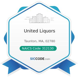 United Liquors - NAICS Code 312130 - Wineries