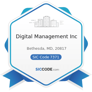 Digital Management Inc - SIC Code 7371 - Computer Programming Services